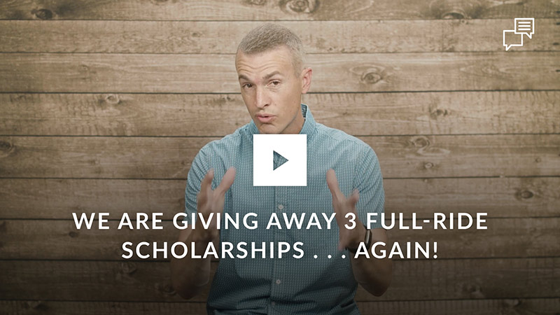 We are giving away 3 full-ride scholarships . . . Again!